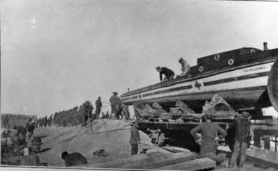 Transfer of motor ambulance launch 'The Hugh Bell' from Tigris to Euphrates