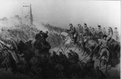 Artist's impression of the Battle of Solferino