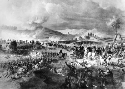Artist's impresion of the Battle of Solferino