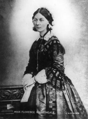 Half length portrait of Florence Nightingale standing (in middle age)
