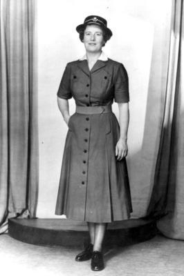 Full length portrait of a female officer