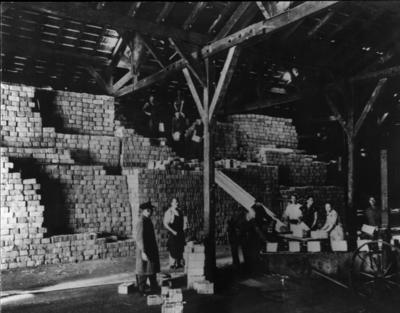 Prisoner of war parcels in a Geneva store
