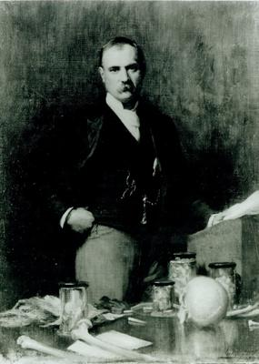 Photograph of a painting of Sir Frederick Treves