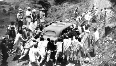 John Melly's car during Ethiopian-Italian war