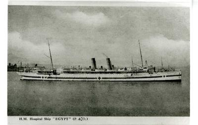 "HM Hospital Ship ""Egypt"" (P&O)"
