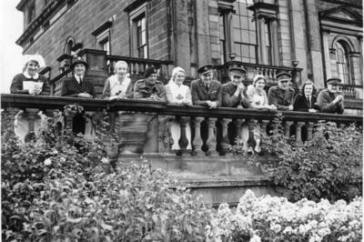 VADS and Officers standing on a balcony