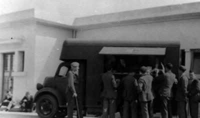 Joint War Organisation mobile canteen in North Africa