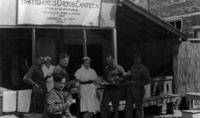 British Red Cross mobile canteen in the Middle East; JWO/9/3/IN1008