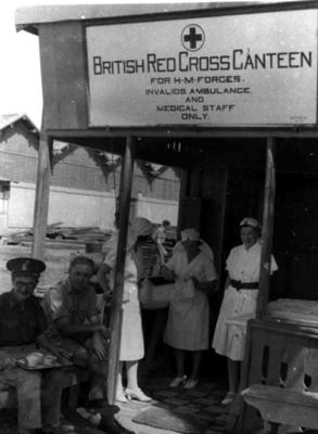 British Red Cross mobile canteen in the Middle East; JWO/9/3/IN1009