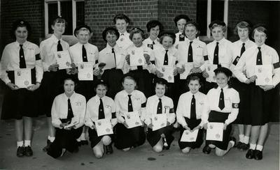 Group of Cadets in Uniform with Certificates