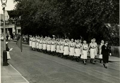 VADs in the County Red Cross Parade in Farnham, Surrey