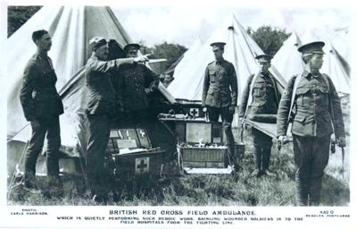 British Red Cross or RAMC field ambulance