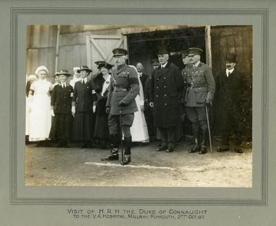 Visit of HRH the Duke of Connaught to the VA Hospital in Millbay, Plymouth