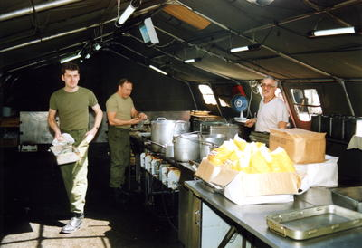 Staff in the kitchens at 33 General Hospital
