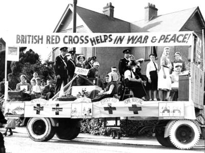 Red Cross float at Reigate carnival