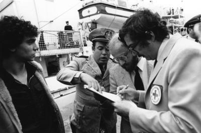 ICRC visit and handover of Argentine prisoners at Montevideo