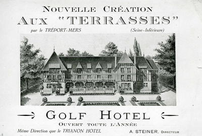 Exterior front view of the Golf Hotel in Le Tréport, France
