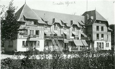 Exterior view of front of Lady Murray's No 10 Red Cross Hospital in the Golf Hotel at Le Tréport, France