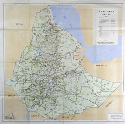 Road map of Ethiopia
