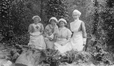 Nursing staff at Ashcombe House Red Cross Hospital in Weston-Super-Mare, Somerset