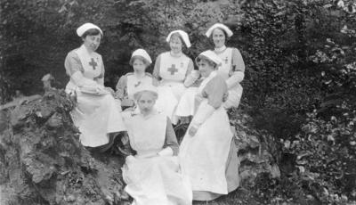Nursing Staff at Ashcombe House Red Cross Hospital in Weston-Super-Mare, Somerset; RCB/2/9/5/132