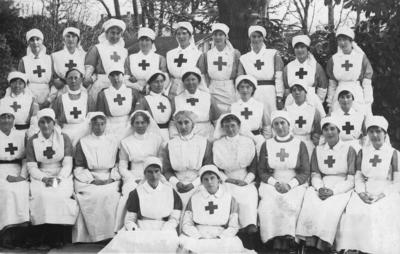 Group of Nursing Staff at Ashcombe House Red Cross Hospital in Weston-Super-Mare, Somerset