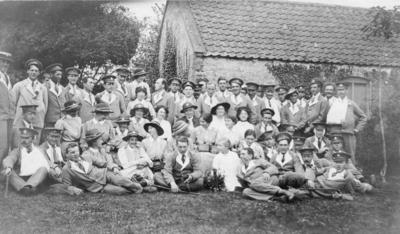 Group of Nursing Staff and Patients at Ashcombe House Red Cross Hospital in Weston-Super-Mare, Somerset; RCB/2/9/5/107