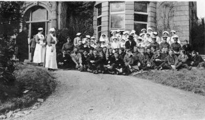 Group of Nursing Staff and Patients at Ashcombe House Red Cross Hospital in Weston-Super-Mare, Somerset; RCB/2/9/5/108