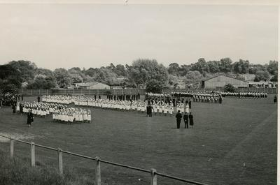 Members of the Farnham Division Voluntary Aid Detachment at an Inspection
