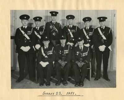 Group Photograph of Surrey/23 Detachment