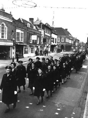 Armistice Day Parade in Castle Street, Farnham