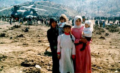Turkish Kurd refugees in Iraq