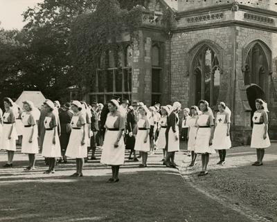 Inspection of Junior Detachments at Uphill Manor by Mrs Ridley and Mrs Graves-Knyfton; RCB/2/9/5/78