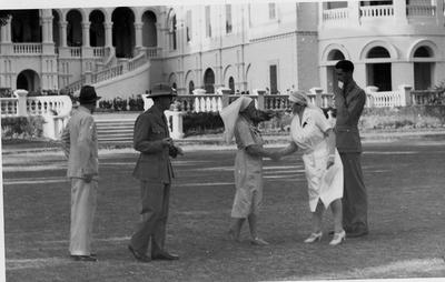 Inspection of Red Cross Society in the Sudan at The Palace in Khatoum by Lady Huddleston