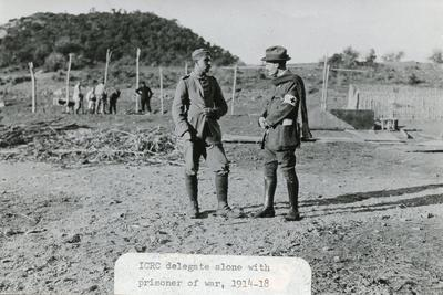 ICRC visiting POW's - First World War