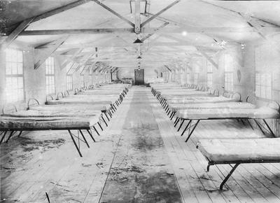 Empty Adrian Ward at 56 General Hospital, Etaples