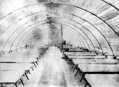 Empty ward of 56 General Hospital, Etaples before bombing