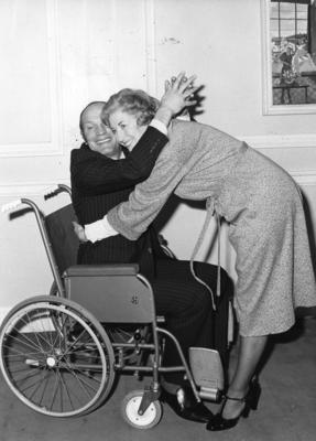 Dame Vera Lynn and Henry Cooper