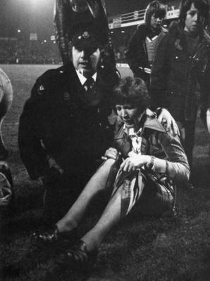 First aid provision at a football match
