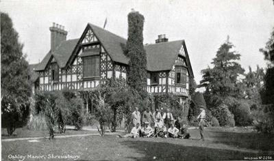 Oakly Manor, St John's Auxiliary Hospital, Shrewsbury