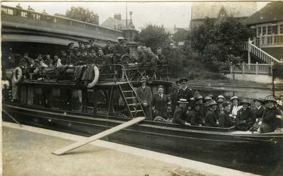 Men out for a river trip, Cambridge