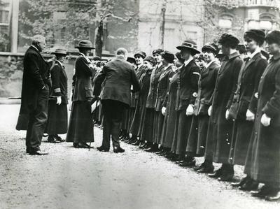 Unit leaves for Salonika, meeting Sir Arthur Stanley, Chairman of BRCS