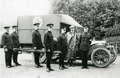 Ambulance Drivers, Thorncombe Park Military Hospital, Bramley