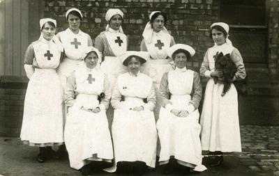 VAD Nurses and dog
