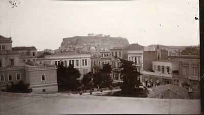 Black and white photograph of Athens