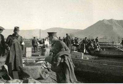 Black and white photograph of the British Red Cross mission during the Balkan War 1912-1913