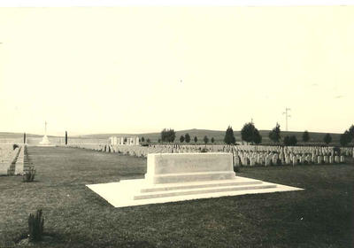 Black and white photograph of the British Legion pilgrimage to Mejej-El-Bab in Tunisia