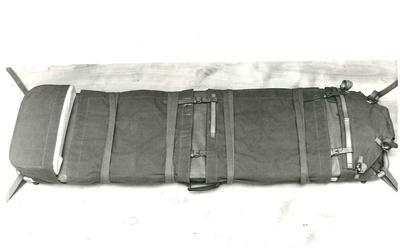 Black and white photograph of the special stretcher