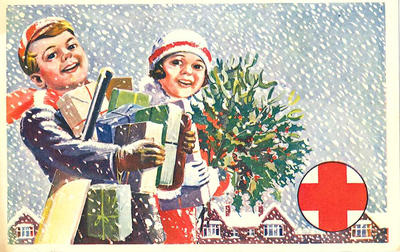 Colour postcard of the Junior Red Cross December 1959