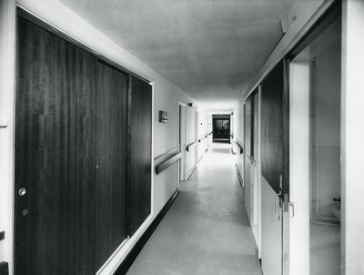 Black and white photograph of the interior of Princess Mary House, Harrogate